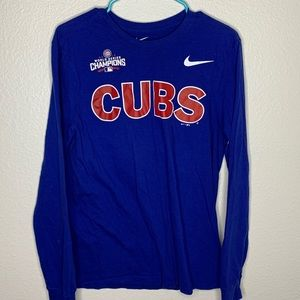 Blue Nike Chicago Cubs Long Sleeve Shirt